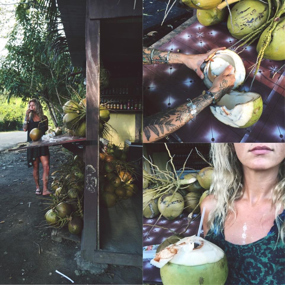 Eating Coconuts on Jamaica's ELITE RETREAT