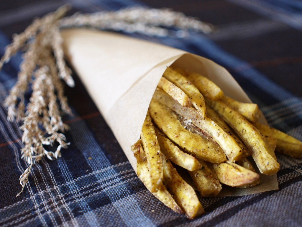 Duck Fat fried plantain fries!