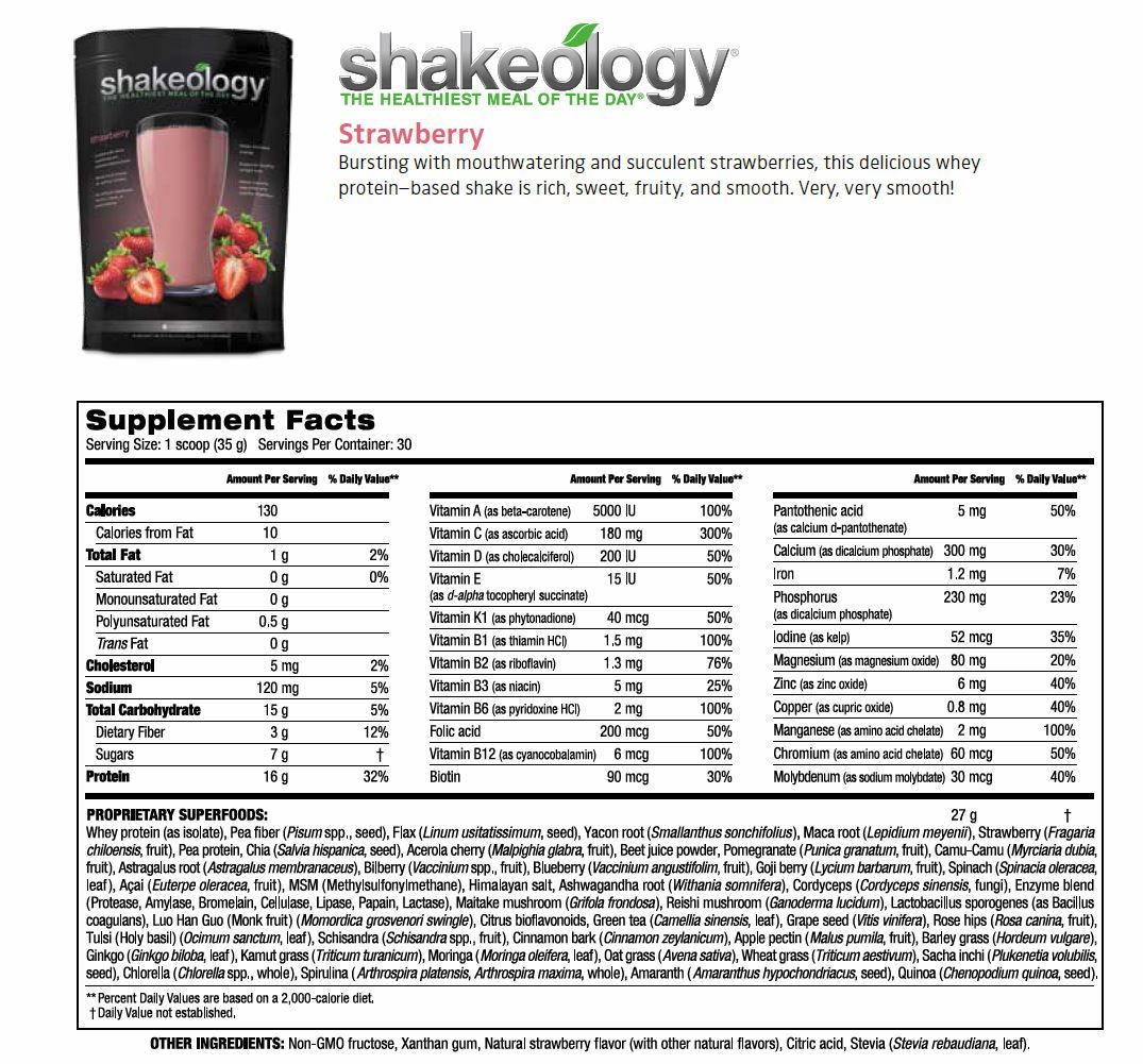 Shakeology is a nutritional shake we drink daily to fill any gaps in ...