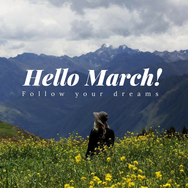 March! The month you crush your goals.